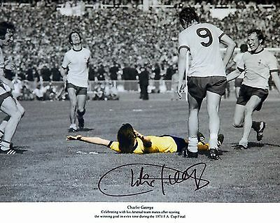 Charlie George 03 Arsenal (Football Signed ) Photo Print