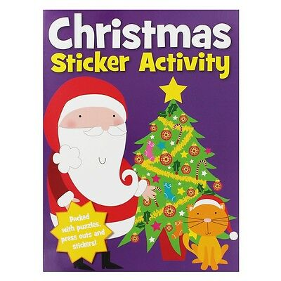 Christmas Sticker Activity Book Stickers Xmas Puzzles & Press Outs Door Hanger