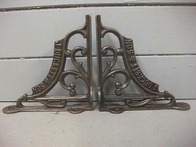 Pair J DUCKETT  Vintage style cast iron shelf bracket Sink Toilet Cistern 6""