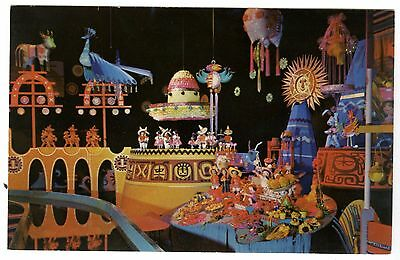 1960s DISNEYLAND FANTASYLAND~IT'S A SMALL WORLD / LATIN AMERICA~VINTAGE POSTCARD