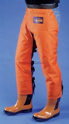 "Elvex ProChaps™ Chainsaw Safety Chaps Protective Leg Pants Orange 36"" Length"