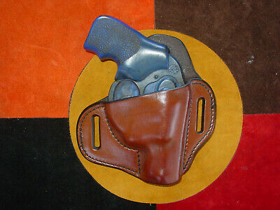 HANDMADE LEATHER MINIMAL Holster for Ruger LCR in antiqued