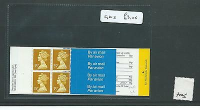 GB - STAMP BOOKLETS  - GK5 - 35p x 4  -  NON  WINDOW -  1 booklet