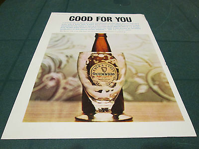 (#1) Vintage Advert - Drinks - Guinness - Is Good For You - 20Th February 1963