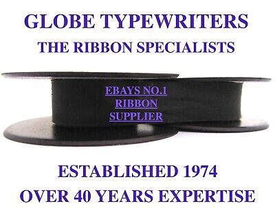 'olivetti *purple' Top Quality *10 Metre* Typewriter Ribbon Twin Spool + Eyelets