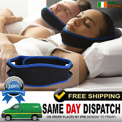 Anti Snoring Chin Strap Ant stop Snore Belt Cool Snoozer Jaw Support sleep Apnea