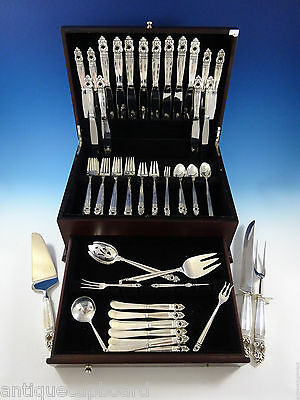 Royal Danish by International Sterling Silver Flatware Set 8 Service 81 Pieces