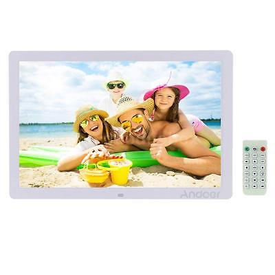 17'' 1080P HD LED 1440*900 Digital Photo Frame MP3 MP4 Movie Player Clock H8B0