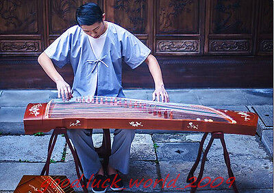 "64""Red Sandalwood Traditional Chinese musical instrument Chinese Zither #1398"