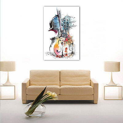 Modern Framed HD Canvas Prints Painting Abstract Violin Wall Art Home Decor