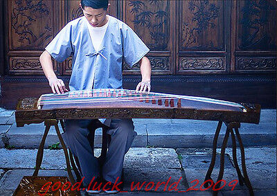 """High Quality 64""""Red Sandalwood Traditional Chinese Musical Instrument Zither #59"""