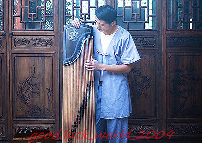 "Top Quality 64""Ebony Guzheng Traditional Chinese musical instrument Zither #5188"
