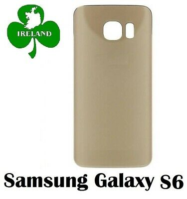 For Samsung Galaxy S6 G920 Back/Battery Cover Glass Housing Replacement Gold