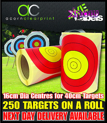 Archery Self Adhesive Paper Target Faces. 40cm, Vertical & Triangle Targets