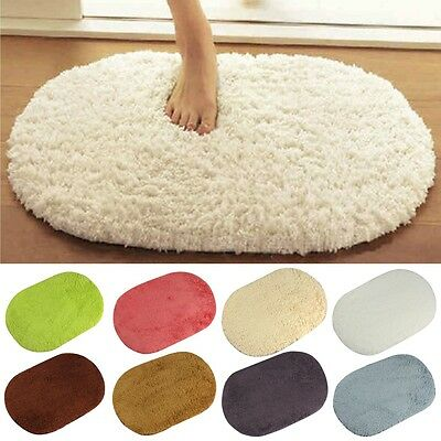 Absorbent Soft Memory Foam Bath Bathroom Floor Shower Mat Rug Non-slip Plush