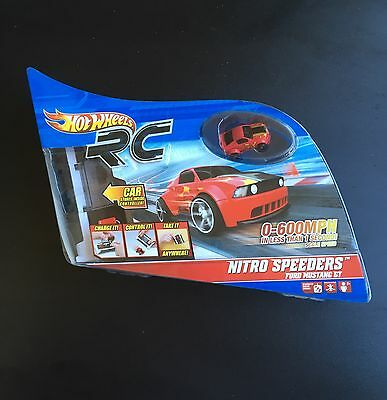 Hot Wheels RC Nitro Speeders Red Mustang Car N/B