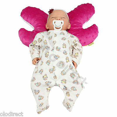 Infant Baby Toddler car seat, stroller butterfly head support Angel Wings pillow