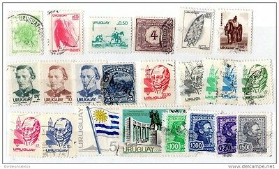 Uruguay 1902/1980 Collection of 23 Values Fine Used X1592