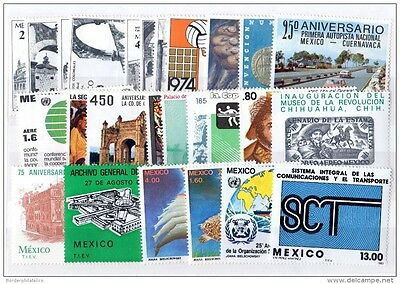 Mexico 1974/83 Collection of 27 Values Mint MNH X1590