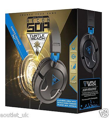 Turtle Beach Ear Force Recon 50P Cuffie per Sony PlayStation PS4 Gaming NUOVO