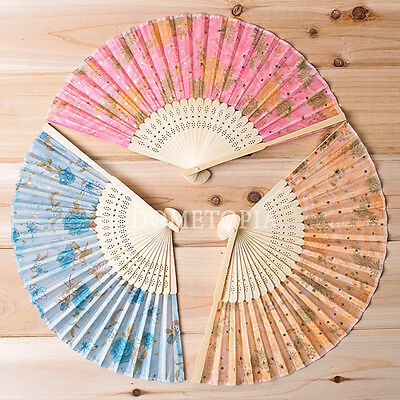 Flower Pattern Folding Fan / High Quality / Perfect For Cloth Decorating