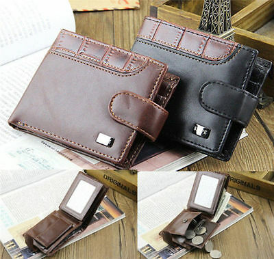 Fashion Men's Leather Bifold Wallet ID Card Holder Handbag Billfold Coin Purse