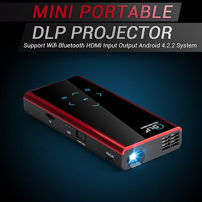 Portable Android Full HD 1080P Home Theater Projector Wifi Bluetooth TV HDMI New