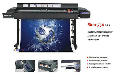 "New 60"" Large Format Printer Sino-750+RIP, Wide Plotter For Indoor and Outdoor"