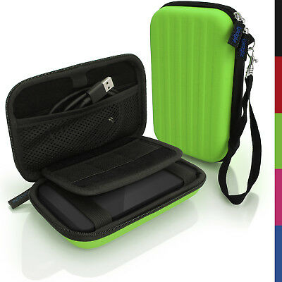 Green Hard Case Cover Pouch for Portable External Hard Drive 142 x 80.6 x 21.6mm