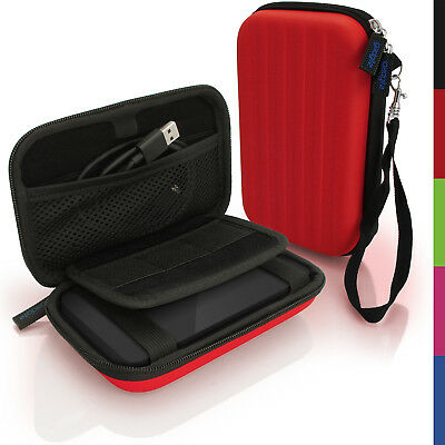 Red Hard Case Cover Pouch for Portable External Hard Drive 160 x 93.5 x 21.5mm