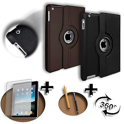 Cover Custodia Case Pelle 360 Per Apple iPad 2 / 3 / 4 +Pennino+Pellicola