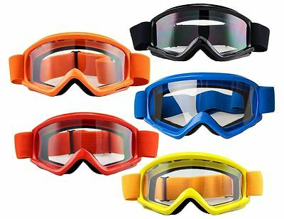 Adult Motocross Motorcycle Dirt Bike ATV MX Goggles Clear Lens