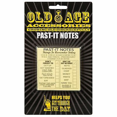 Old Age Past-it Notes Sticky Daily Routine Reminder Notes Novelty Prank Gift