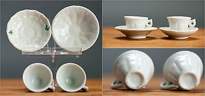 Special Set! Miniature Chinese Porcelain Cup Saucer 'White' 'Dehua Style'