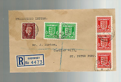1941 Guernsey Channel Islands Occupation Local Registered Cover