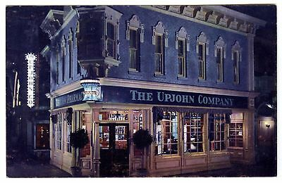 1950s DISNEYLAND MAIN STREET U.S.A. UPJOHN DRUG STORE~ORIGINAL UNUSED POSTCARD
