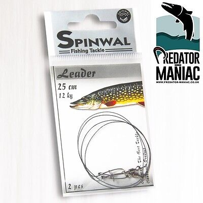 Spinwal Wolfram Leaders 12kg-25cm (2pcs) tungsten,pike leader wire trace lure