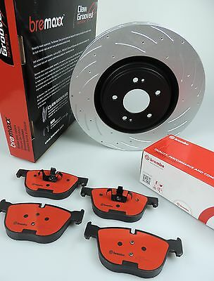 BREMBO pads & BREMAXX slotted disc brake rotors FRONT for BMW E36 E46, 3 Series
