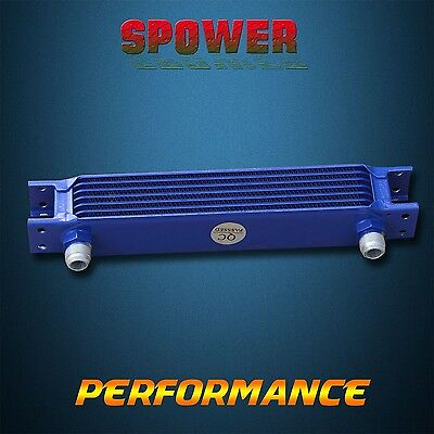 Universal Engine Transmission Oil Cooler 7 Row AN10 Blue Mocal Style