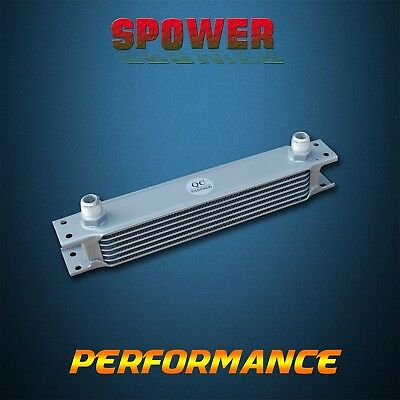 Universal Engine Transmission Oil Cooler 7 Row AN10 Silver Mocal Style