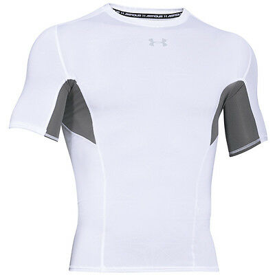 Under Armour Coolswitch Compression Manches Courtes Tee T-Shirt White
