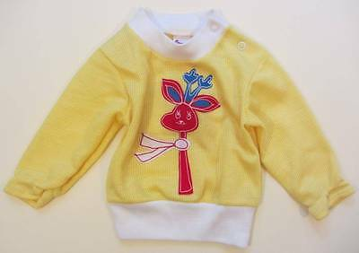 childrens vintage top yellow baby 9 months giraffe logo NWT girls boys