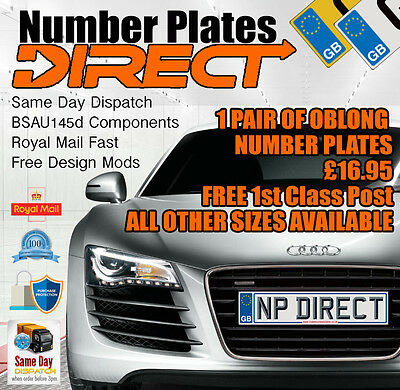 Pair Of Quality Custom Car Number Plates / Show Plates - Same Day Dispatch