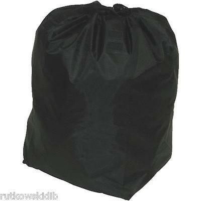 Narita Black Shopping Cart Carry Liner With Jumbo Black Hood & Square Bottom