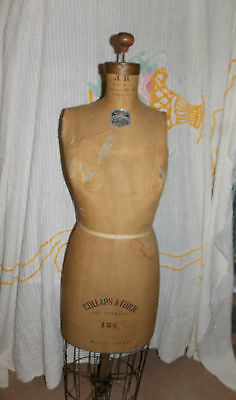 Vintage JR Bauman Collaps A Form 12 S Model 1949 Dress Form