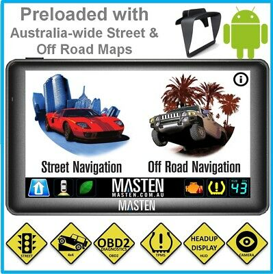 """+7"""" H7 GPS 4x4 Car Android Portable Navigation Bluetooth System OffRoad OBD2 TPM"""
