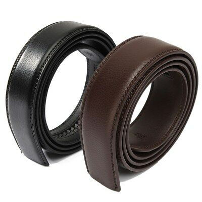 Men's Genuine Leather Automatic Business Belt Replacing Waistband Without Buckle