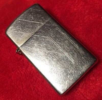 Vintage 1971 -Used ZIPPO Lighter Parts or Repair Open To Personalize Needs Flint