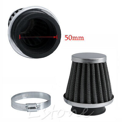 Hot 50MM Intake Refit Air Filter Cleaner Clamp-on Fit for Motorcycle Scooter ATV