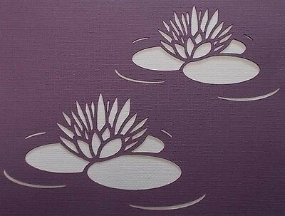Scrapbooking - STENCILS TEMPLATES MASKS Sheet - Water Lilly
